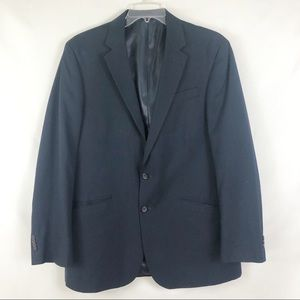 Kenneth Cole Navy Pinstripe Suit Jacket Sz 43 L
